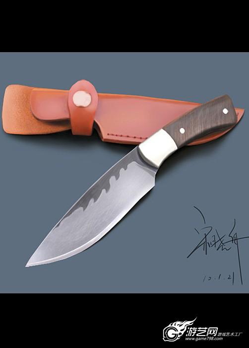 以前画的刀
