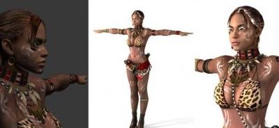 夏娃土著装模型展示.jpg