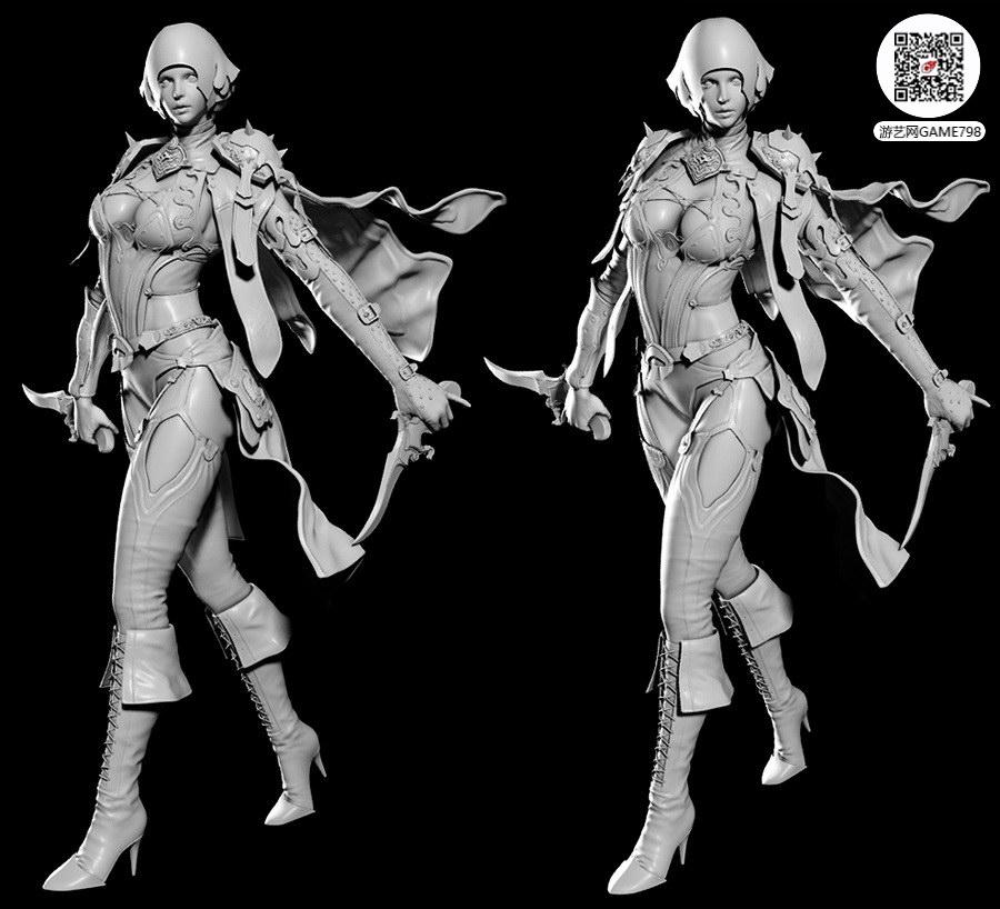 次世代3D美女模型下载