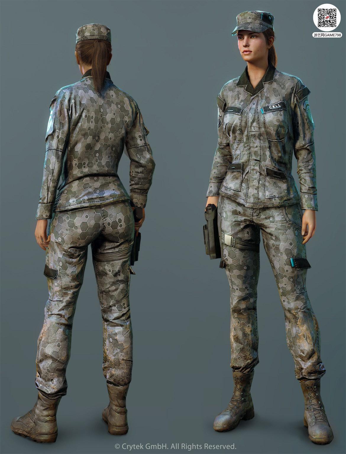 女性战士3D模型下载