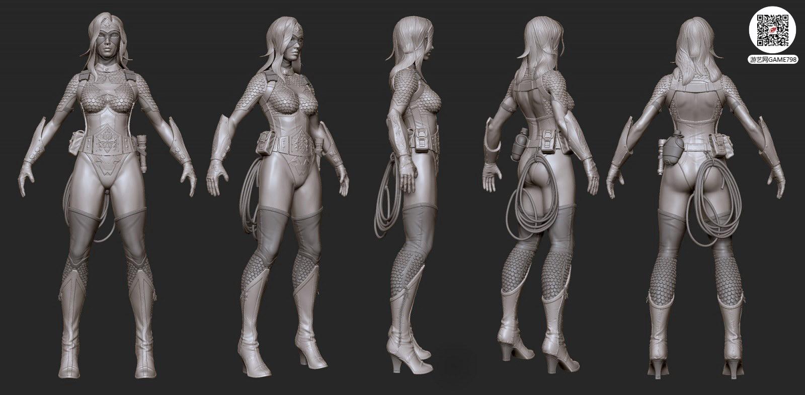 美女CG模型下载