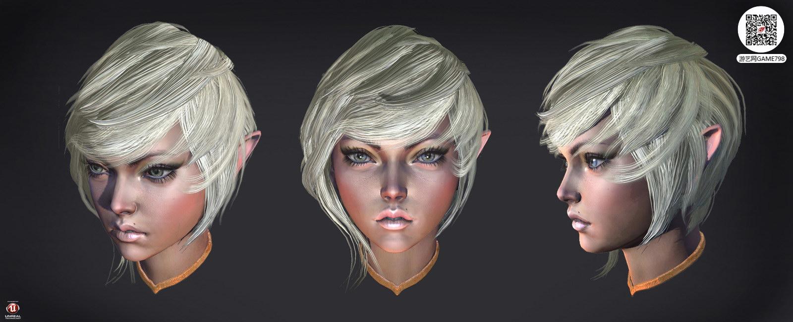 次世代人物头像3D模型下载