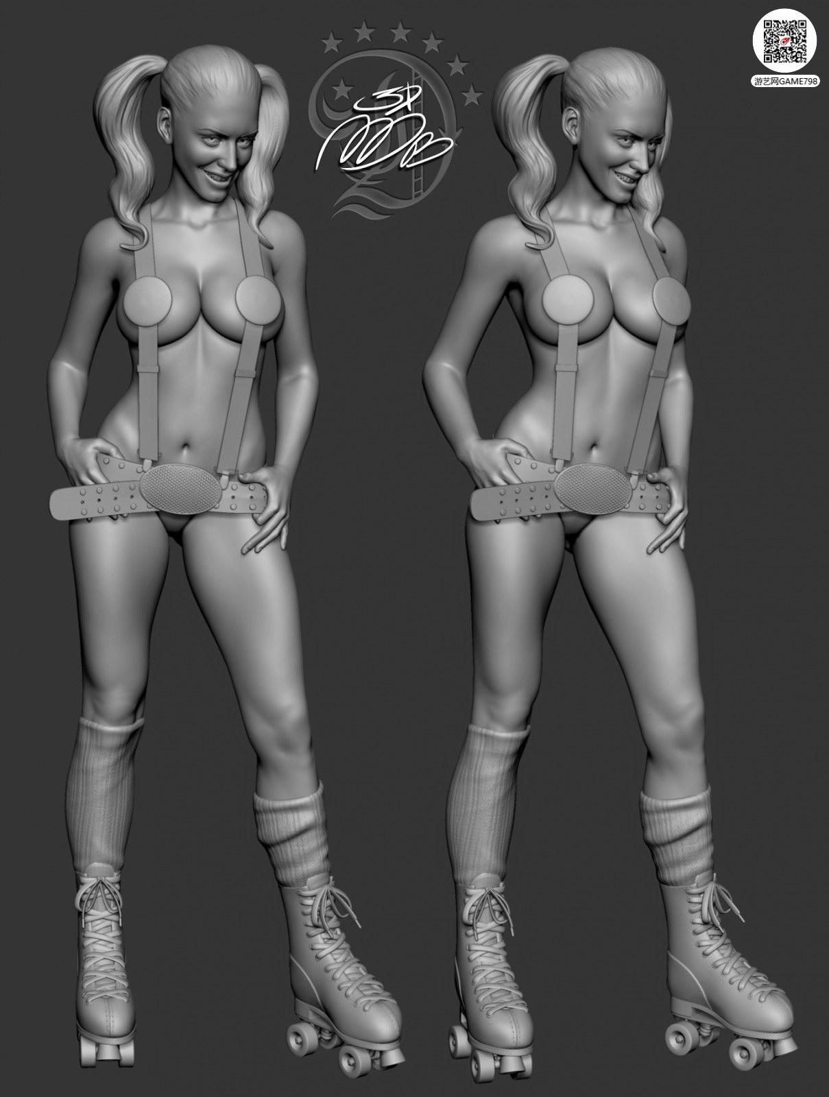 日式援交女3D模型下载