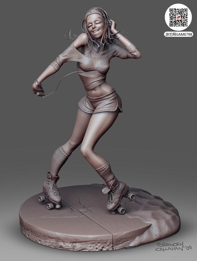 红灯区美女妓女3D模型下载