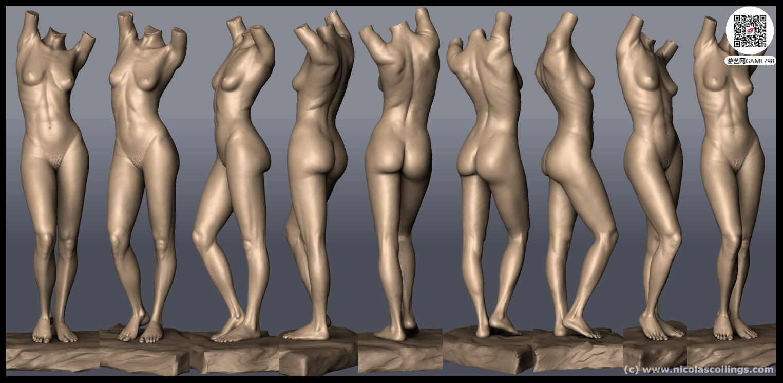 次世代人体标准3D模型下载