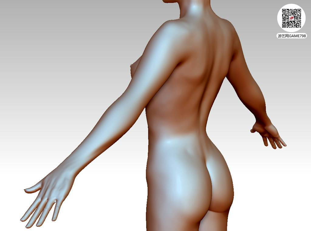 次世代游戏女性角色3Dmax模型下载