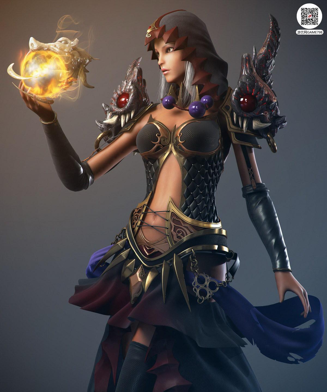 欧美奇幻风格美女3D模型下载