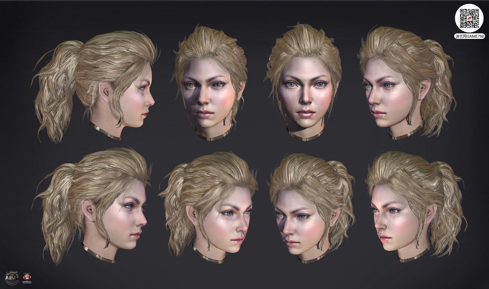 影视CG3D美女模型下载