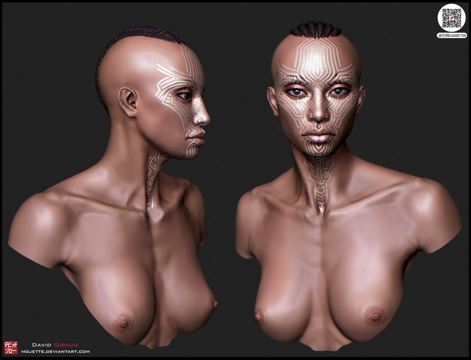 超写实人头3D模型下载