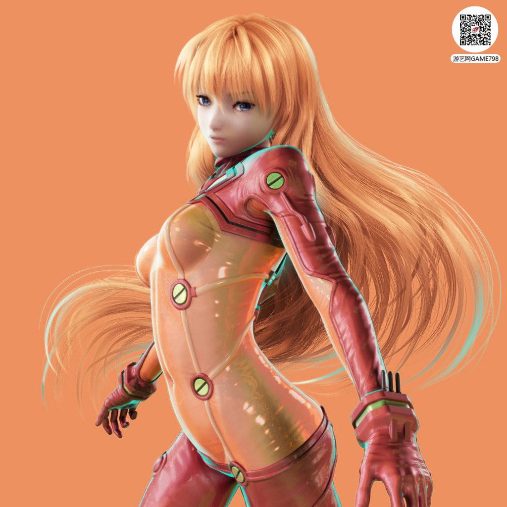 日式科幻风美女3D次世代模型下载