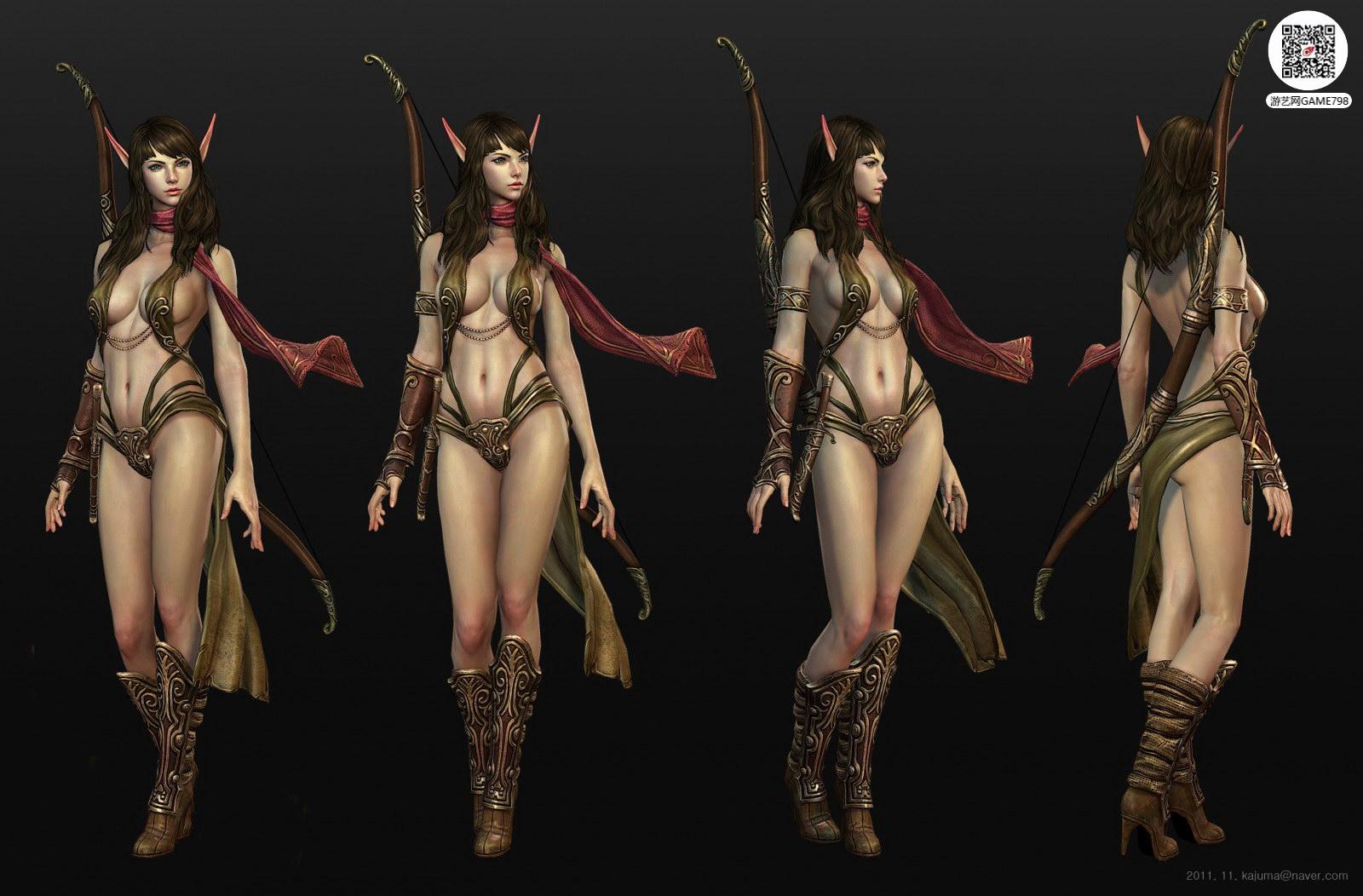 性感美女3D模型下载