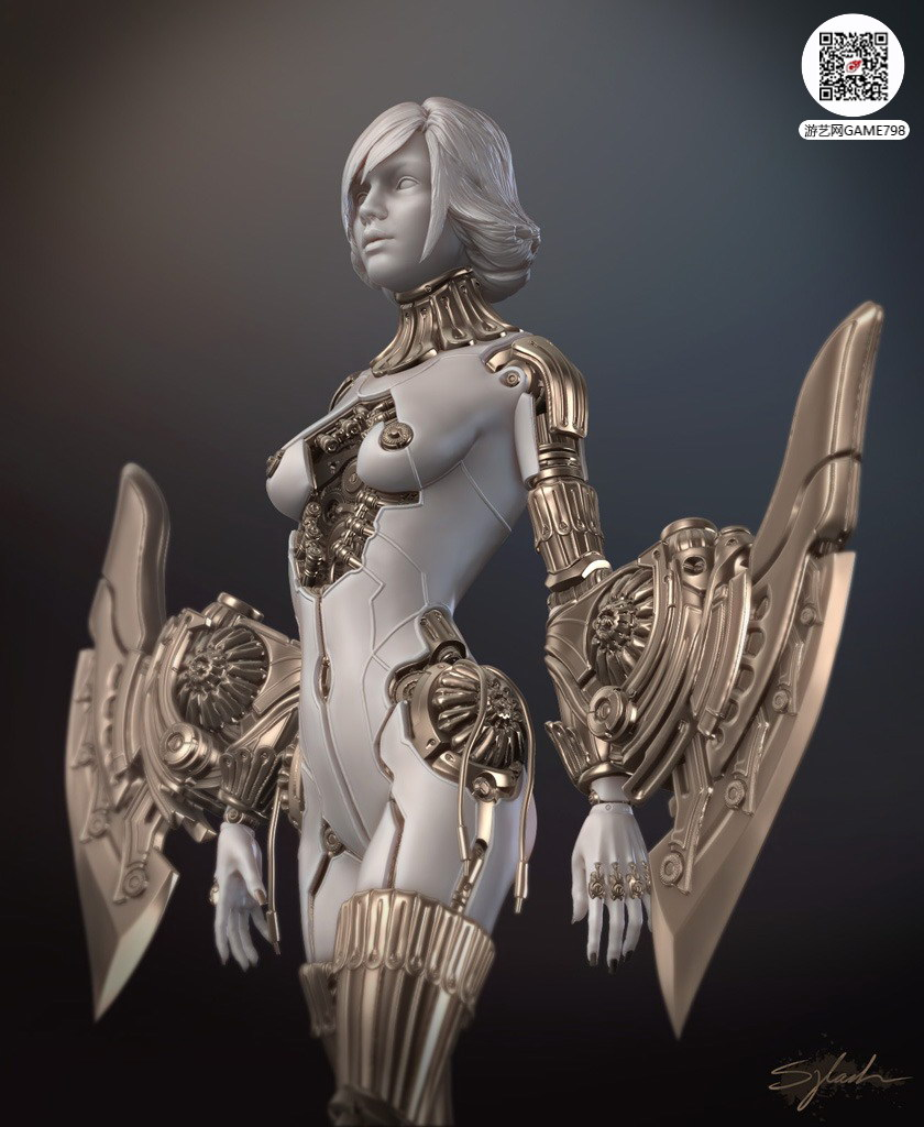 cg美女zb模型雕刻
