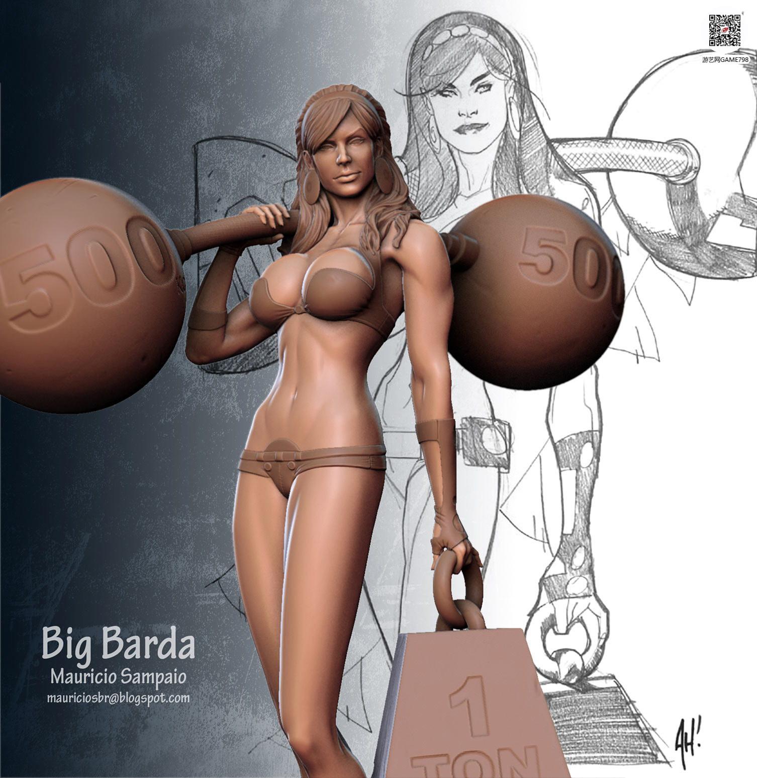 影视CG3D美女模型
