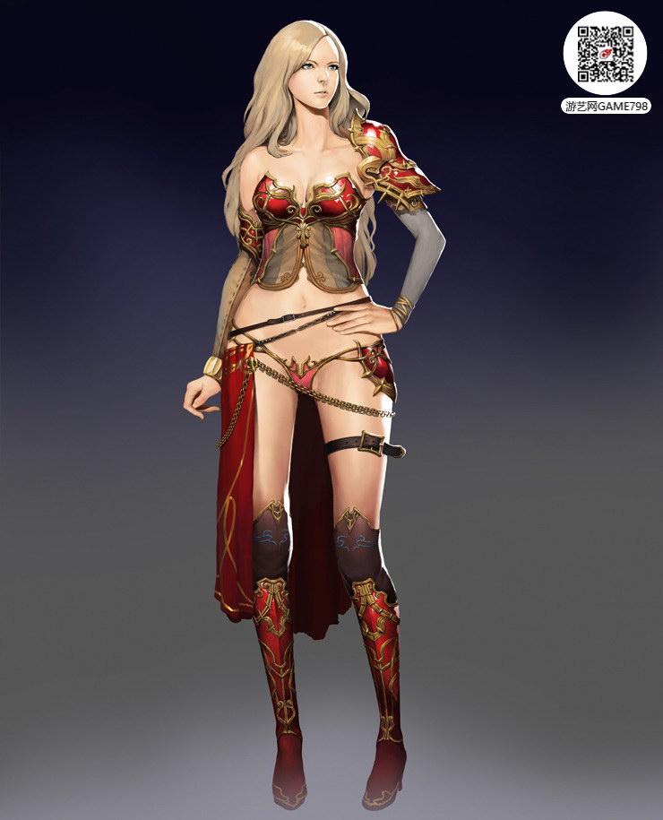 欧美风格CG美女