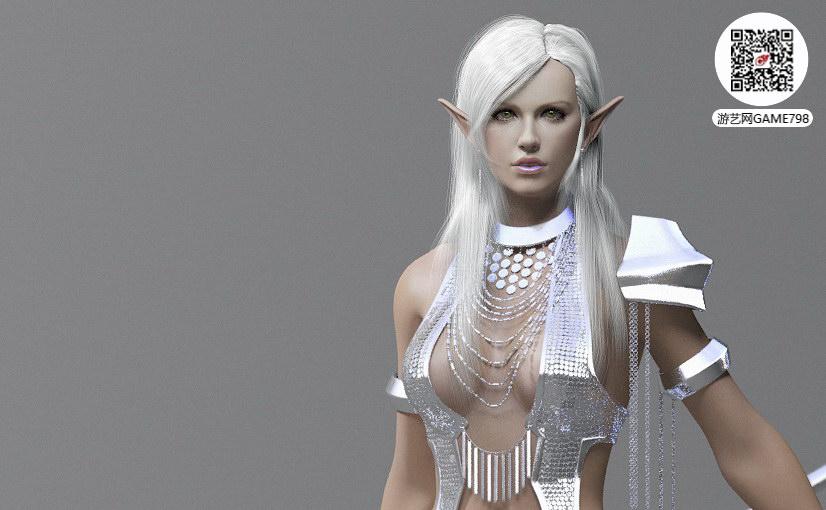 欧美风格CG美女3D模型