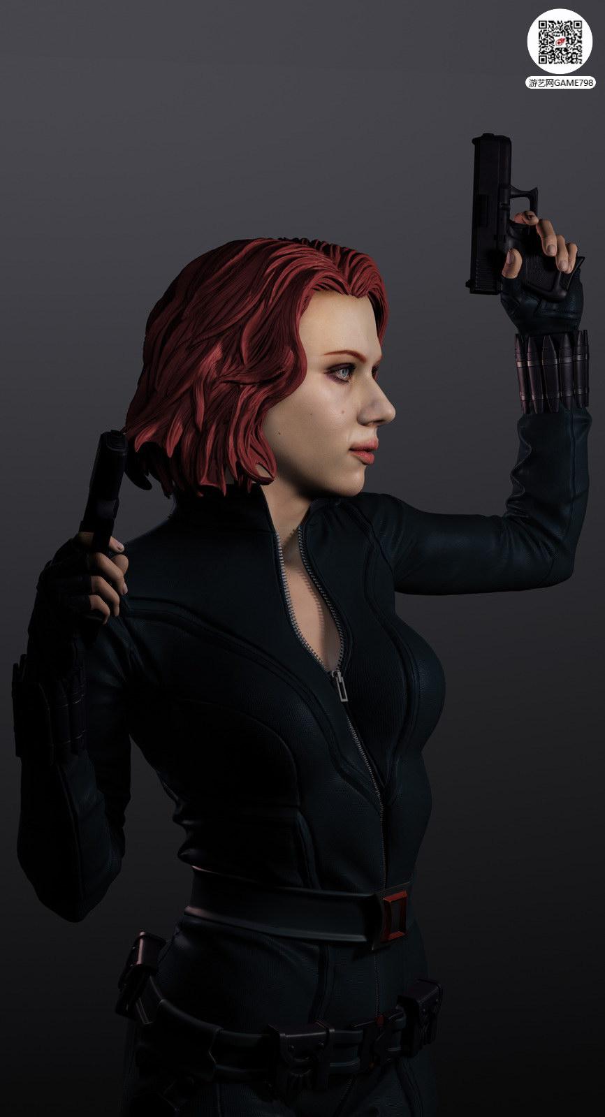 次世代黑寡妇CG模型下载