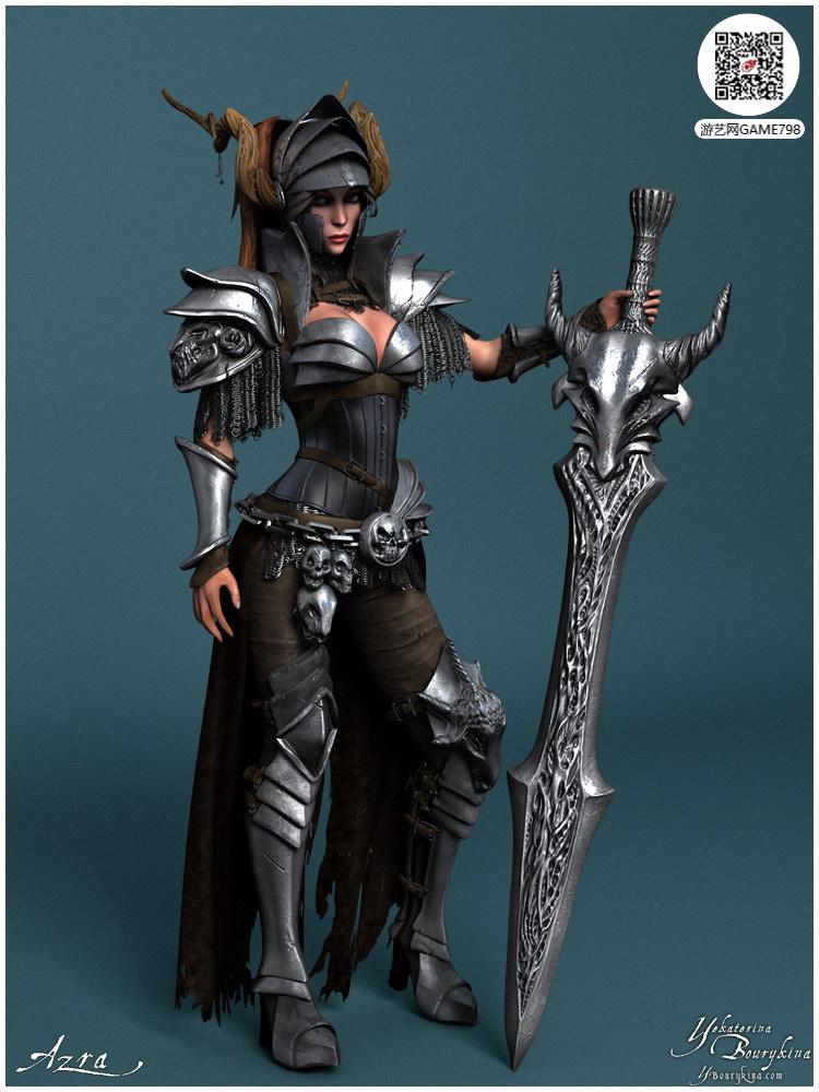 精致游戏美女3D模型