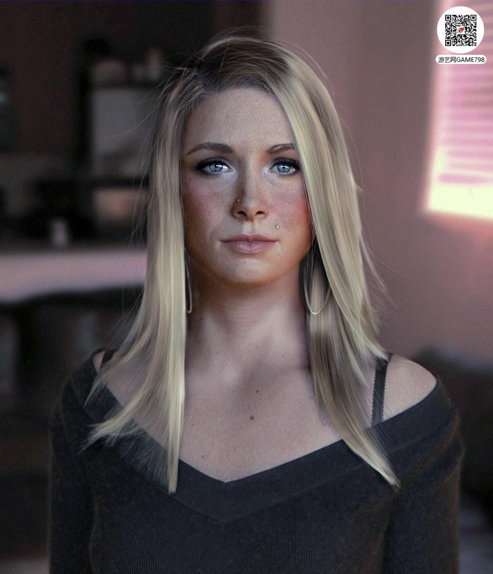 美女3D头像