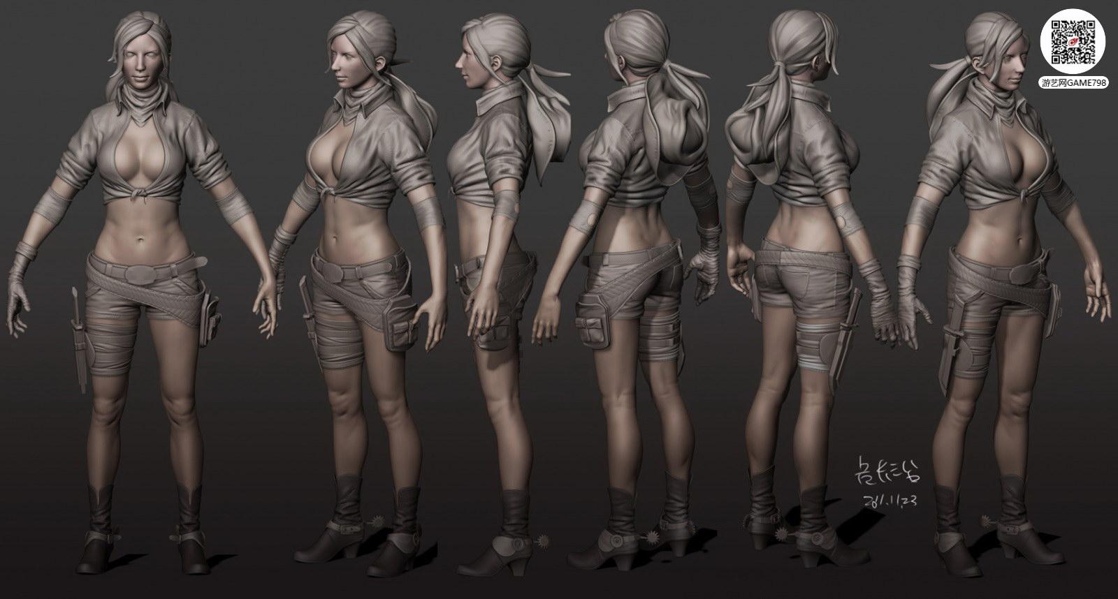 次世代游戏3D女性人体