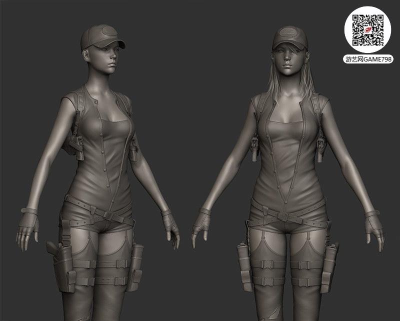 美女游戏模型