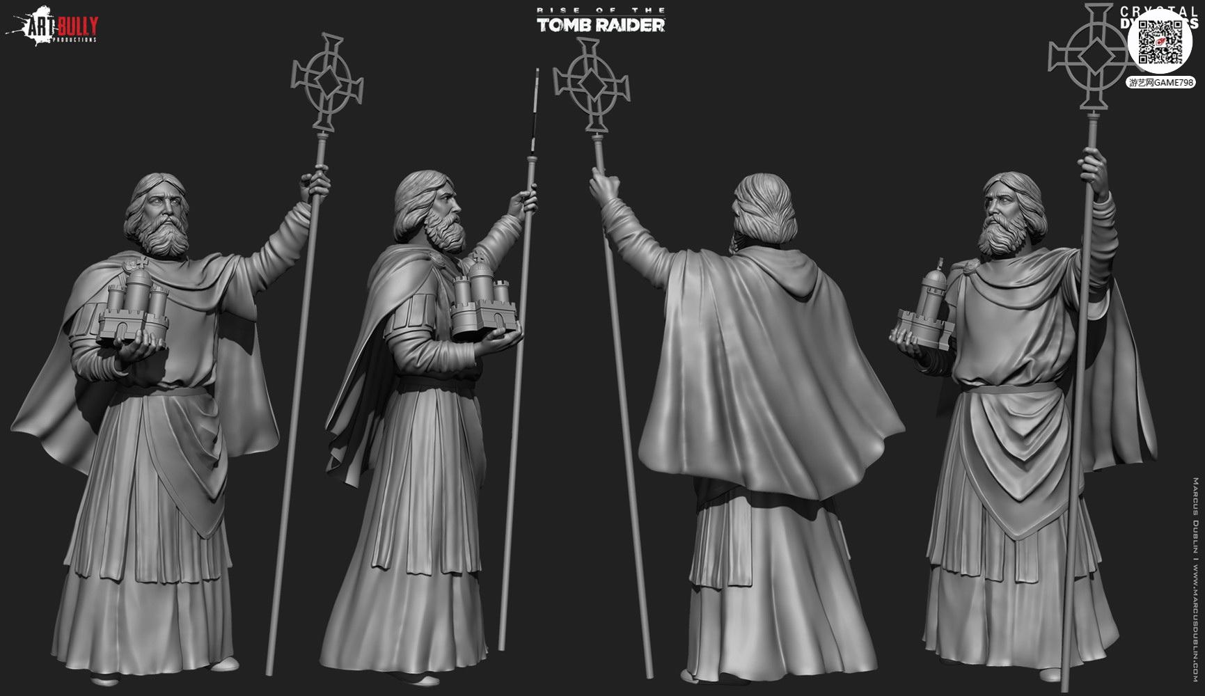 3A大作古墓丽影:崛起场景雕像次世代3D模型下载