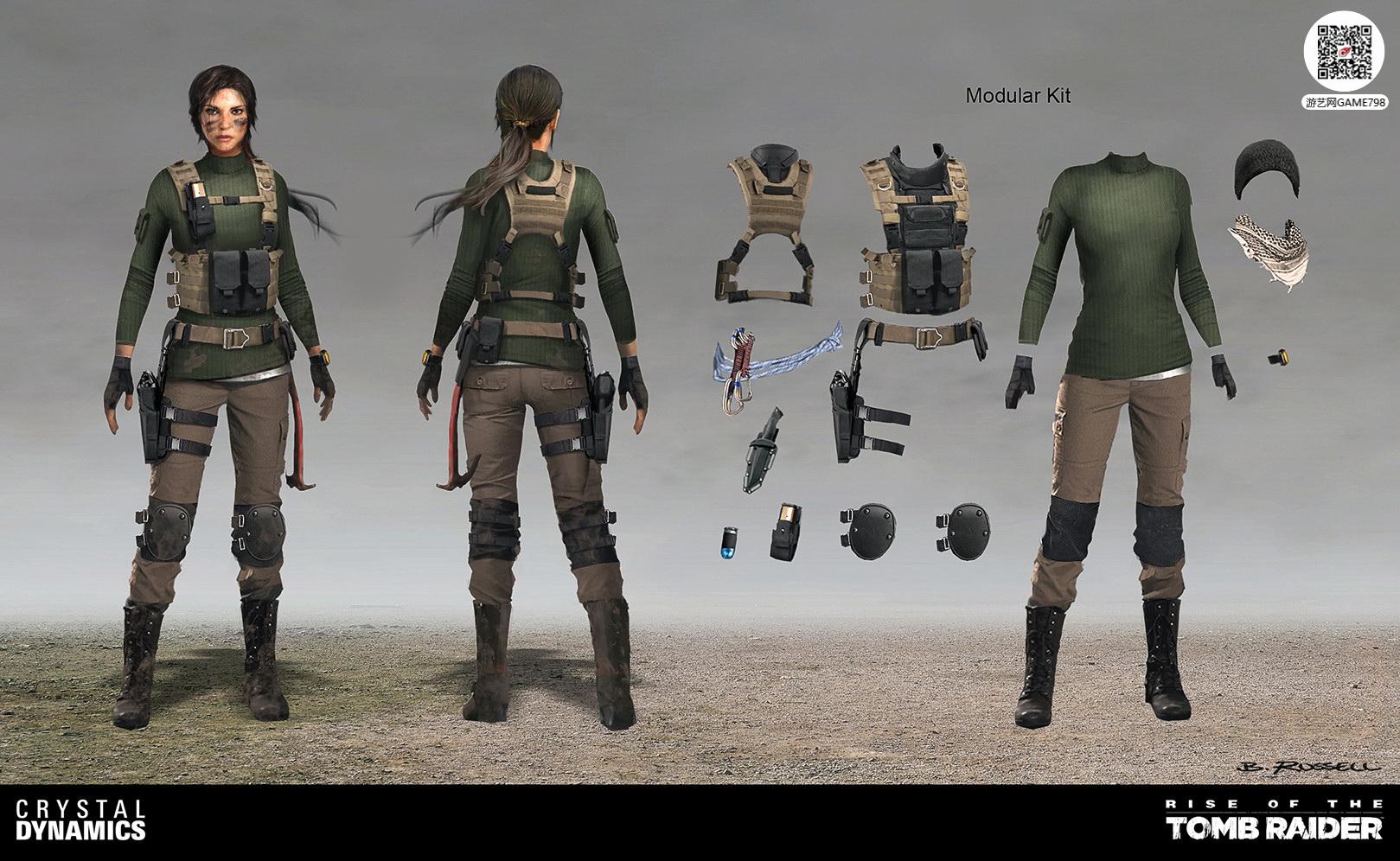 3A大作古墓丽影:崛起劳拉次世代3D模型下载