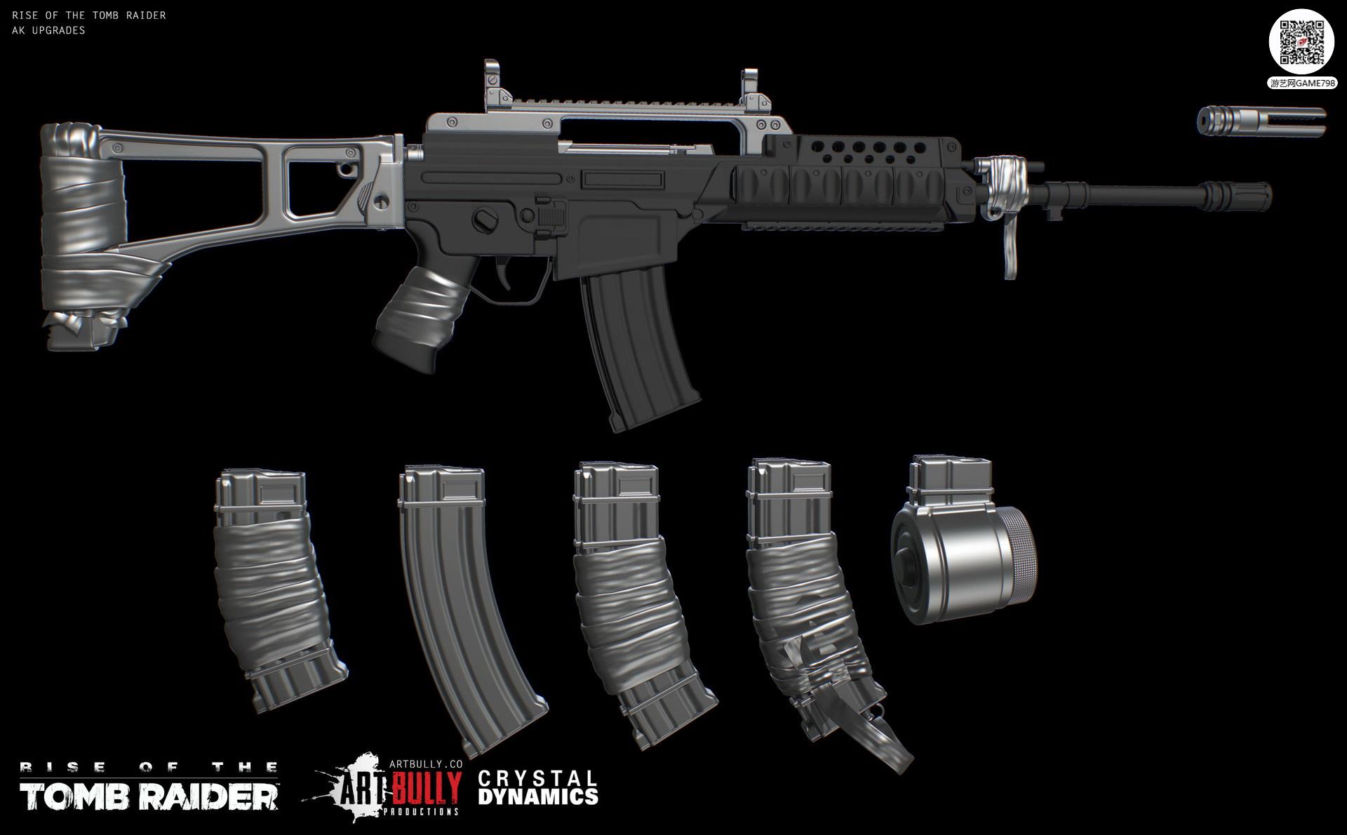 3A大作古墓丽影:崛起枪支次世代3D模型下载