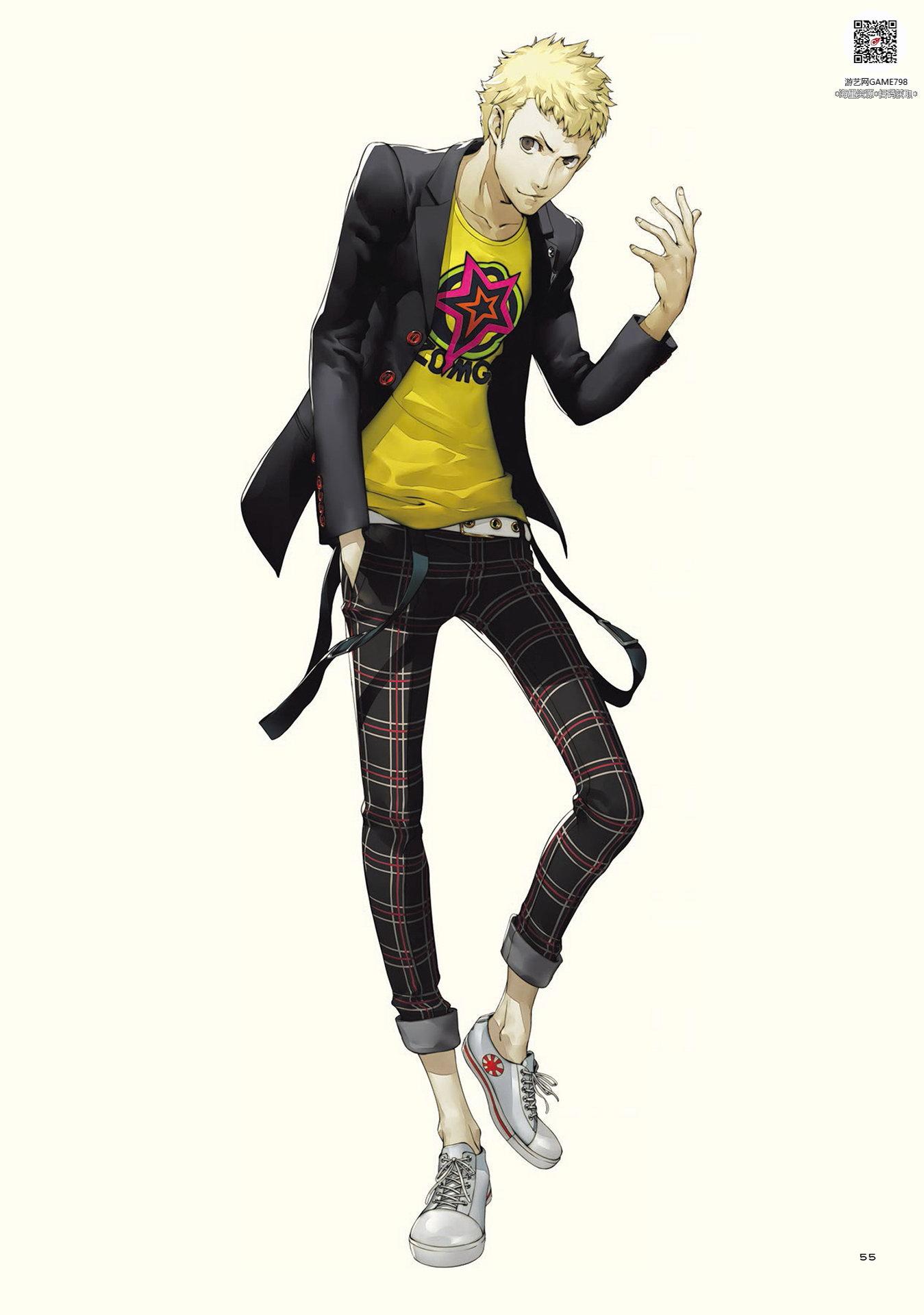 030_关注游艺网公众号获海量资源_日式游戏风格设定女神异闻录5二次元角色设定.jpeg