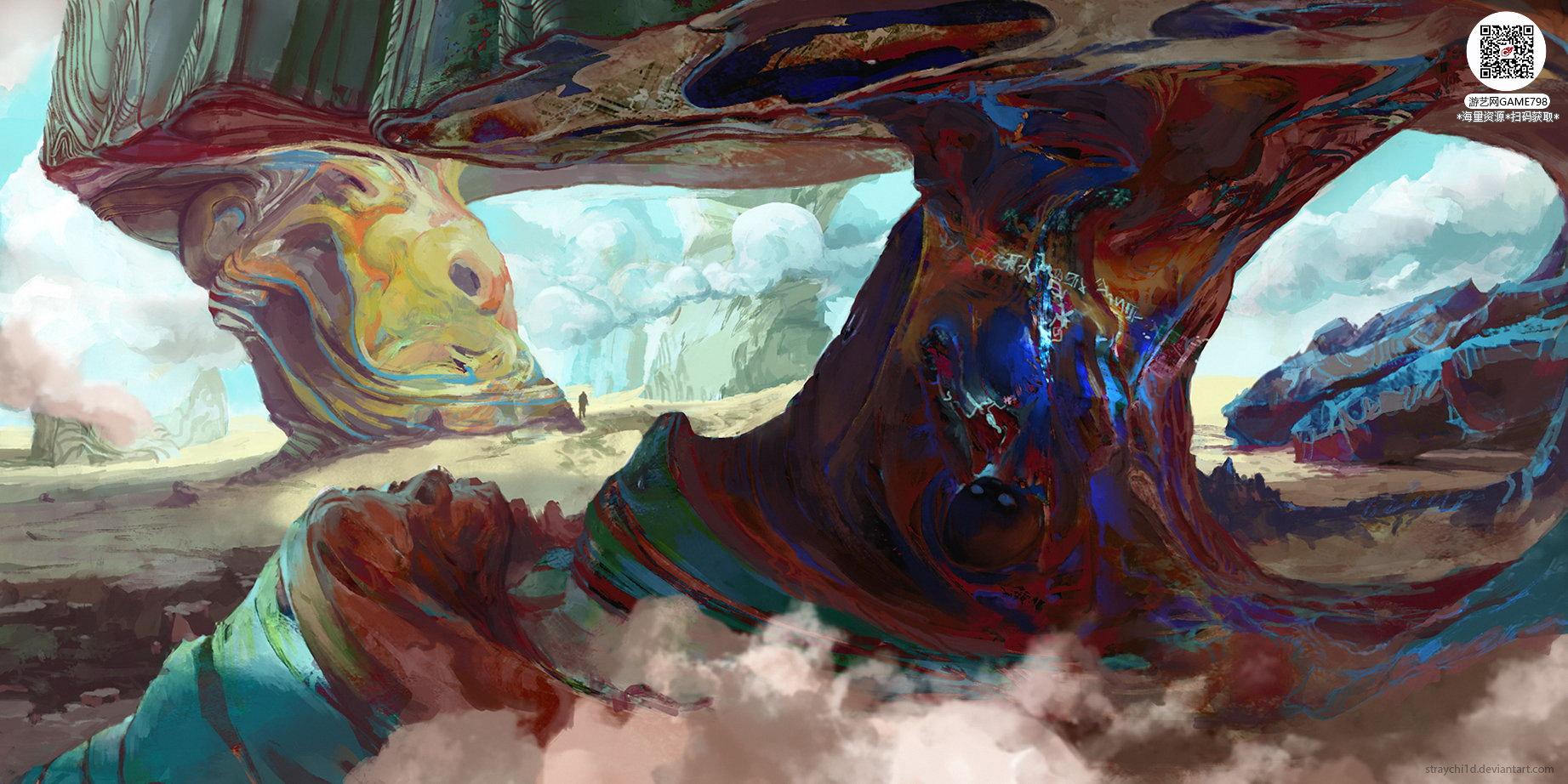 058_关注游艺网公众号获海量资源_风格独特的原画概念设定Q版卡通风格异世界科幻风格设计.jpg