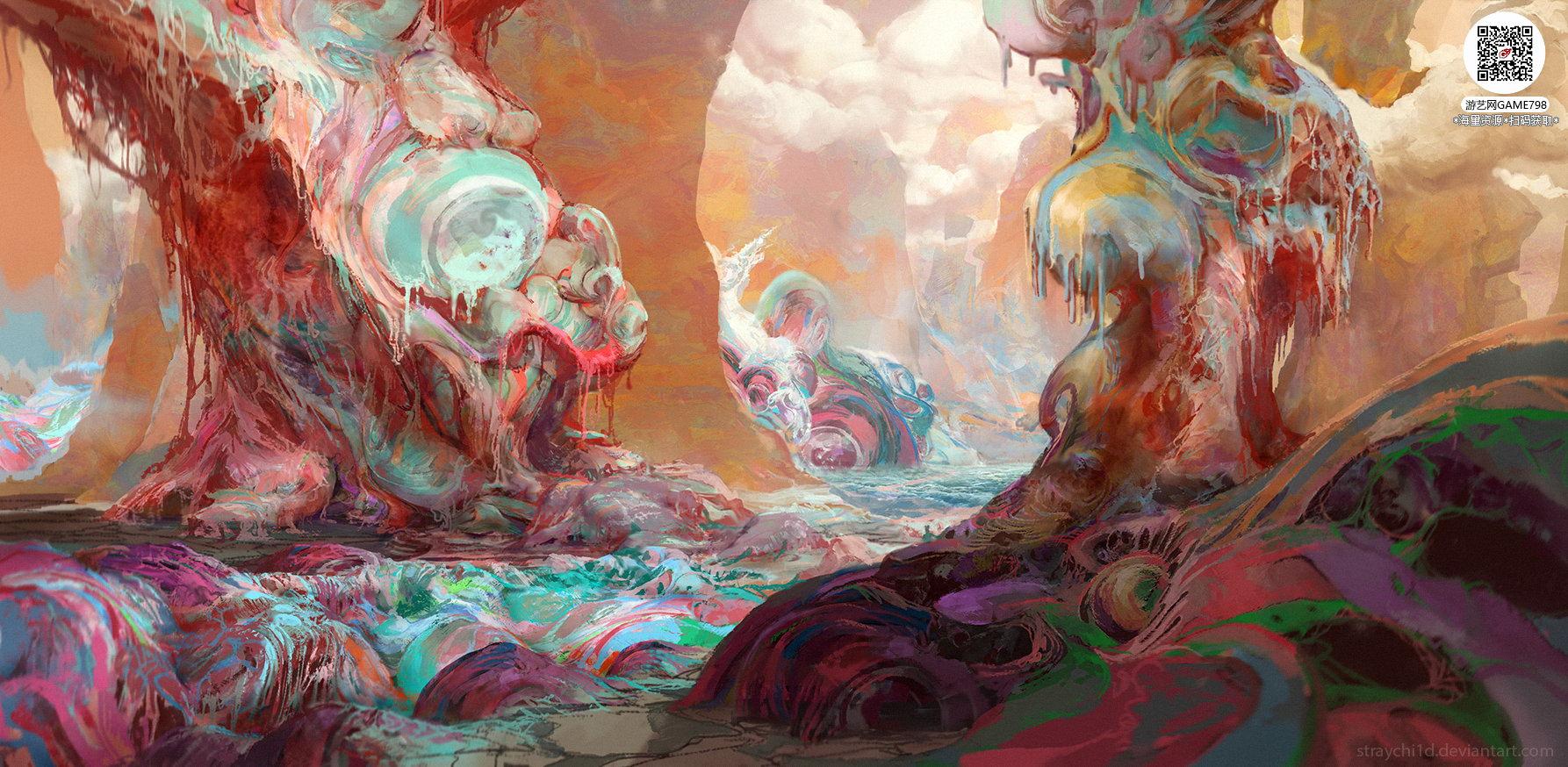 059_关注游艺网公众号获海量资源_风格独特的原画概念设定Q版卡通风格异世界科幻风格设计.jpg