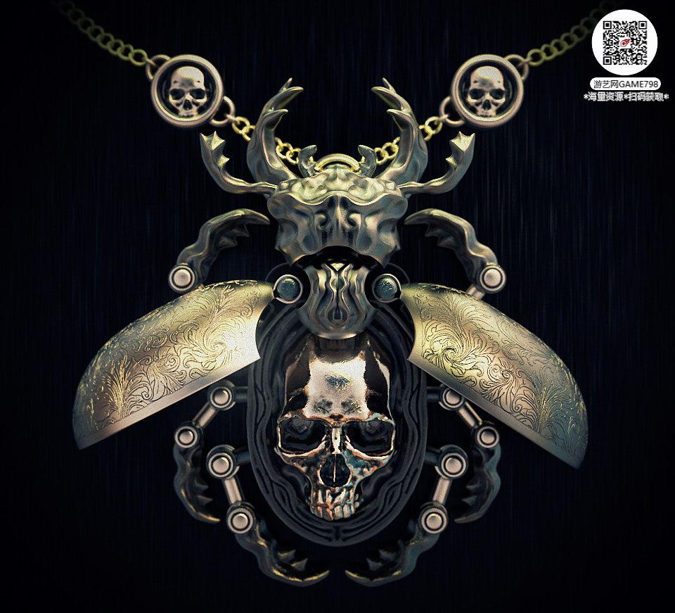 007_关注游艺网公众号获海量资源_3D网游次世代模型大图参考机械怪兽科幻ZBrush4R8雕刻.jpg