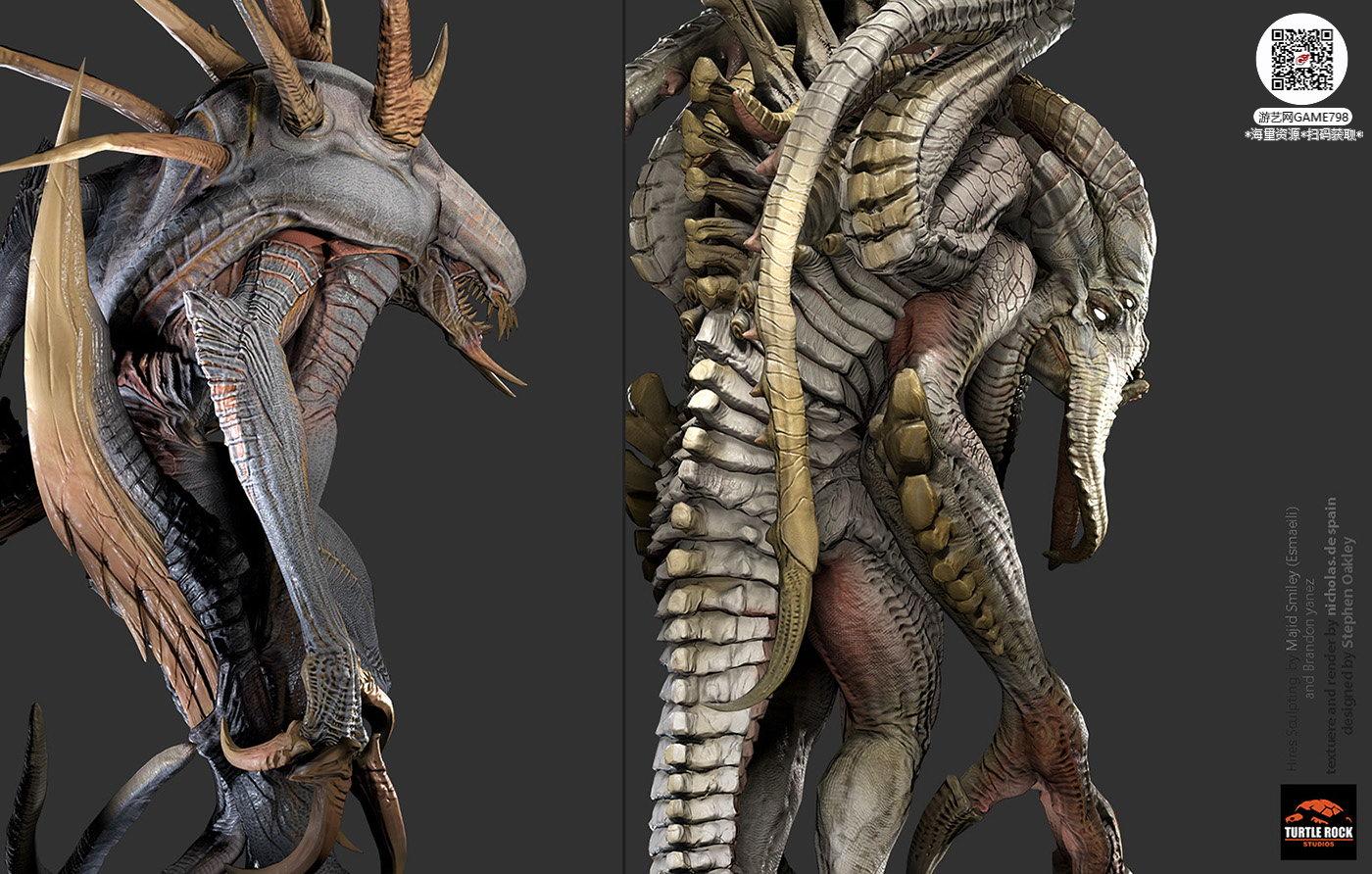 010_关注游艺网公众号获海量资源_3D网游次世代模型大图参考机械怪兽科幻ZBrush4R8雕刻.jpg