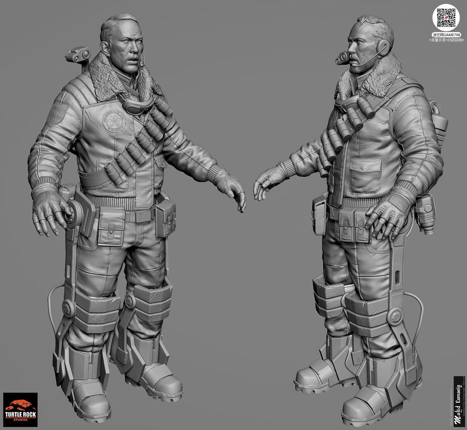 018_关注游艺网公众号获海量资源_3D网游次世代模型大图参考机械怪兽科幻ZBrush4R8雕刻.jpg