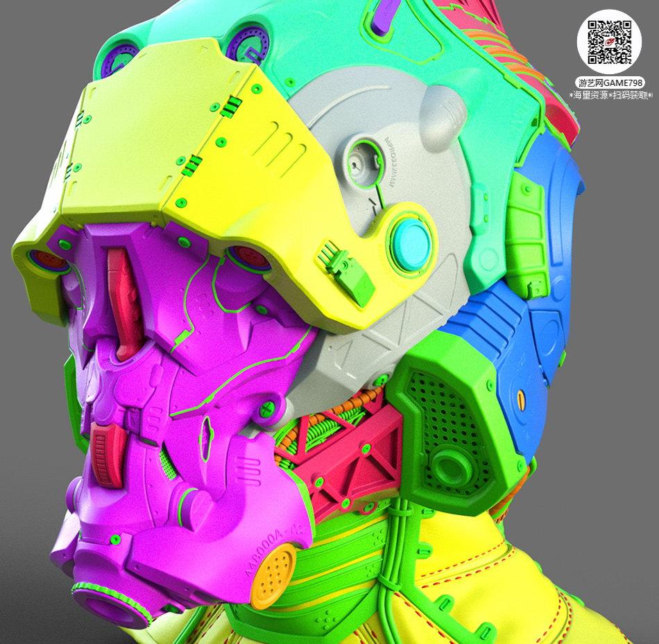 035_关注游艺网公众号获海量资源_3D网游次世代模型大图参考机械怪兽科幻ZBrush4R8雕刻.jpg