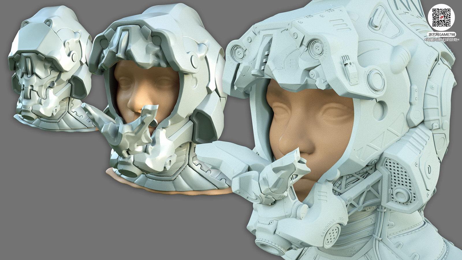 037_关注游艺网公众号获海量资源_3D网游次世代模型大图参考机械怪兽科幻ZBrush4R8雕刻.jpg
