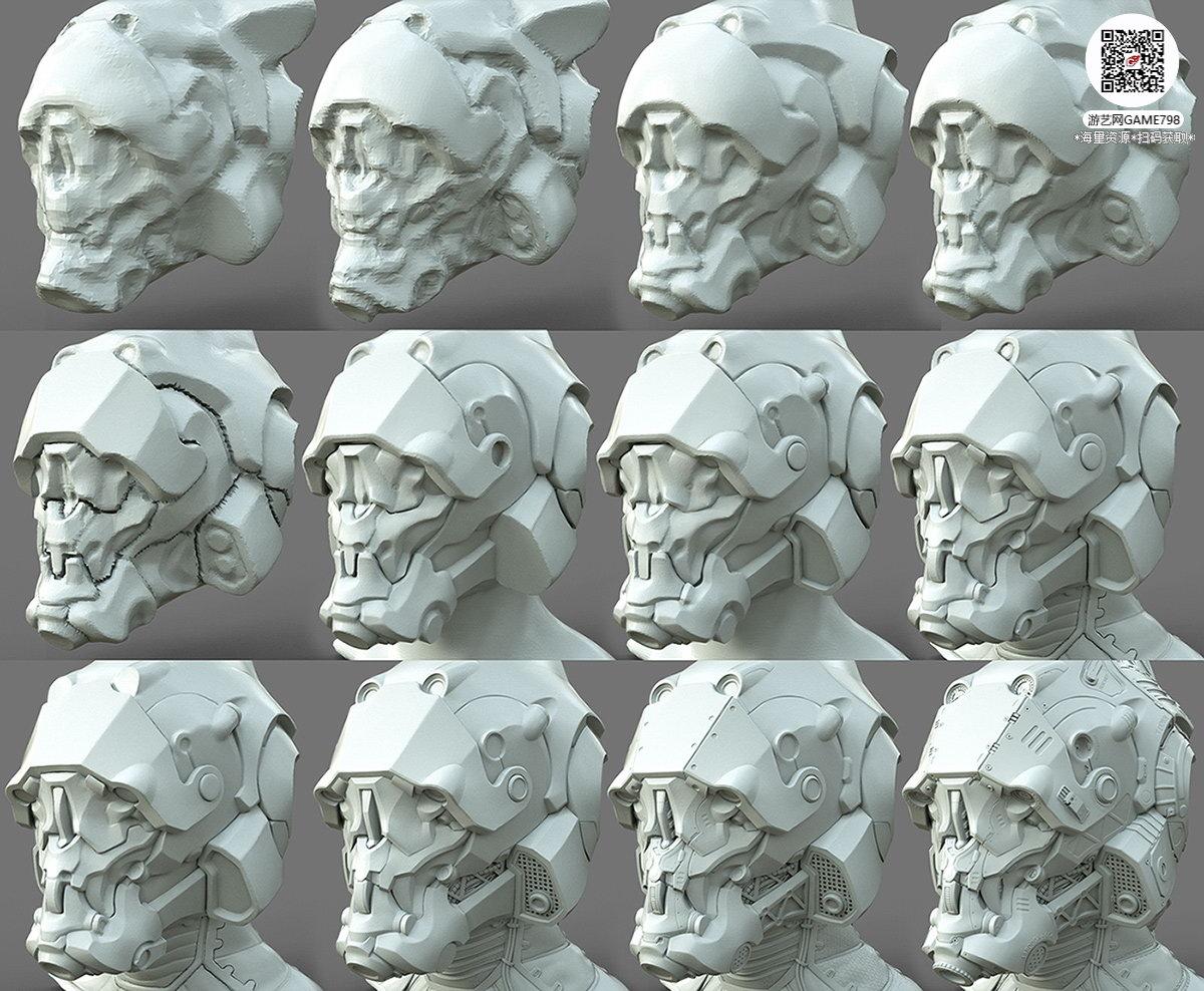 036_关注游艺网公众号获海量资源_3D网游次世代模型大图参考机械怪兽科幻ZBrush4R8雕刻.jpg