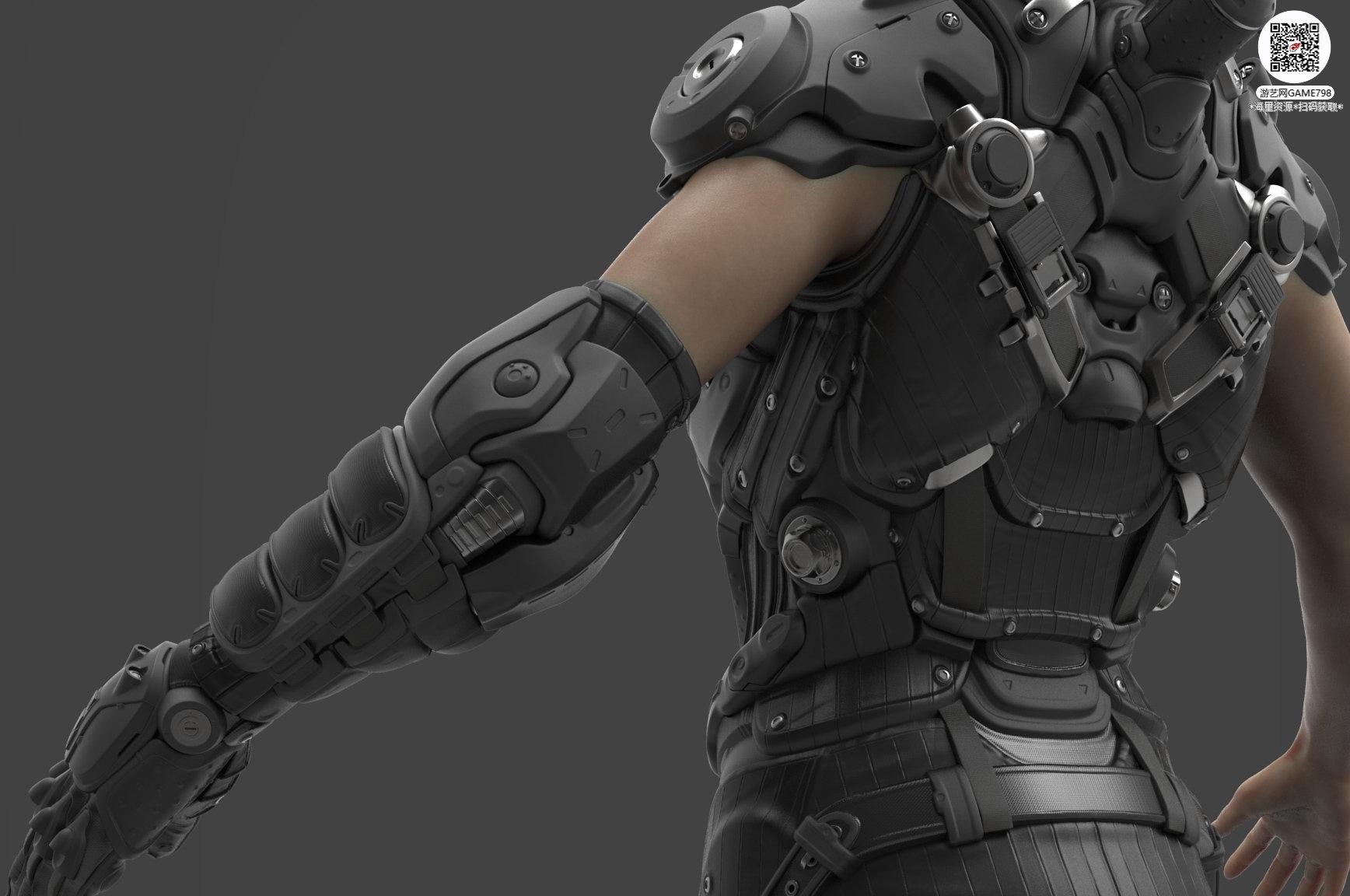 039_关注游艺网公众号获海量资源_3D网游次世代模型大图参考机械怪兽科幻ZBrush4R8雕刻.jpg