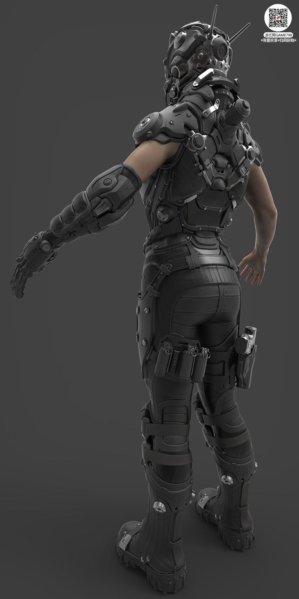 041_关注游艺网公众号获海量资源_3D网游次世代模型大图参考机械怪兽科幻ZBrush4R8雕刻.jpg