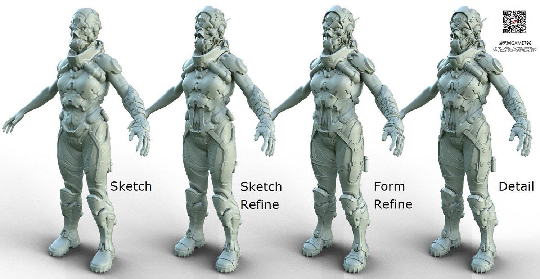 043_关注游艺网公众号获海量资源_3D网游次世代模型大图参考机械怪兽科幻ZBrush4R8雕刻.jpg