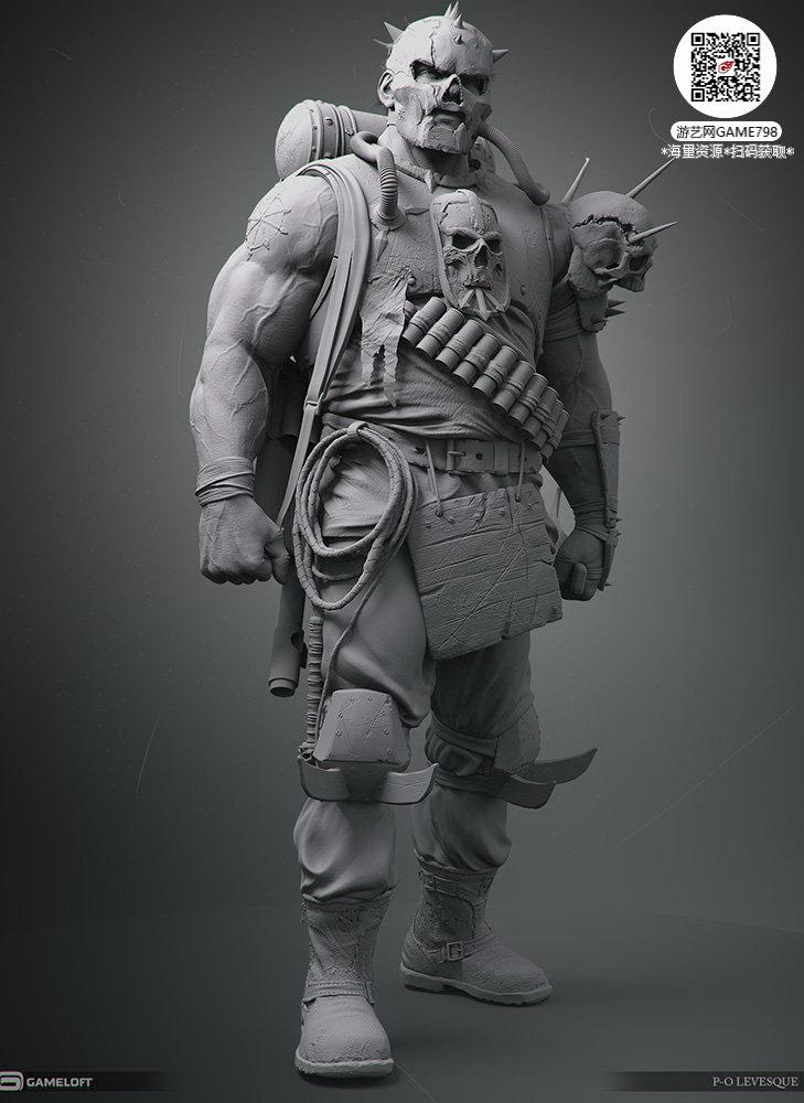 047_关注游艺网公众号获海量资源_3D网游次世代模型大图参考机械怪兽科幻ZBrush4R8雕刻.jpg