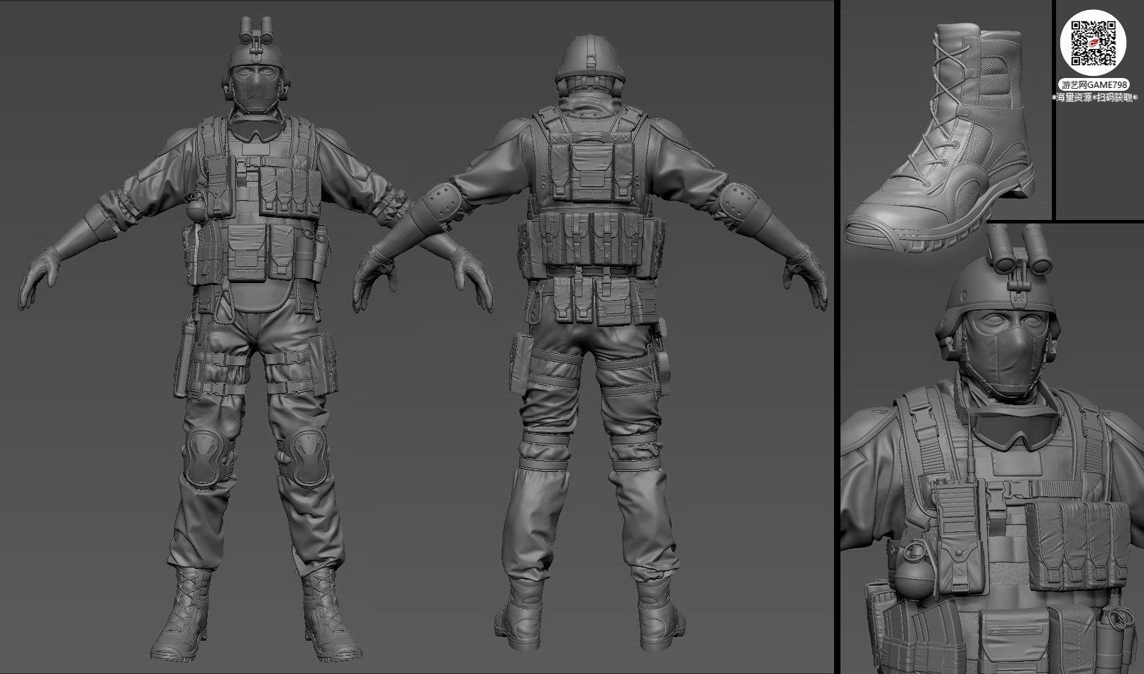 054_关注游艺网公众号获海量资源_3D网游次世代模型大图参考机械怪兽科幻ZBrush4R8雕刻.jpg