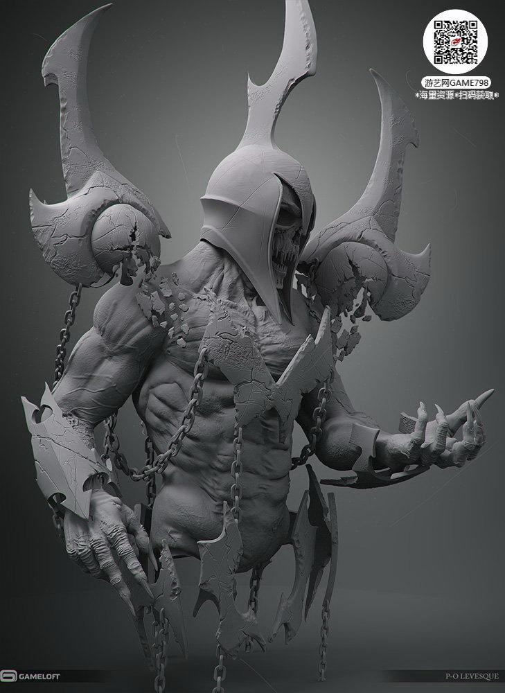 056_关注游艺网公众号获海量资源_3D网游次世代模型大图参考机械怪兽科幻ZBrush4R8雕刻.jpg