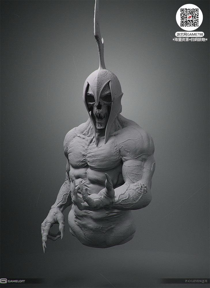 057_关注游艺网公众号获海量资源_3D网游次世代模型大图参考机械怪兽科幻ZBrush4R8雕刻.jpg