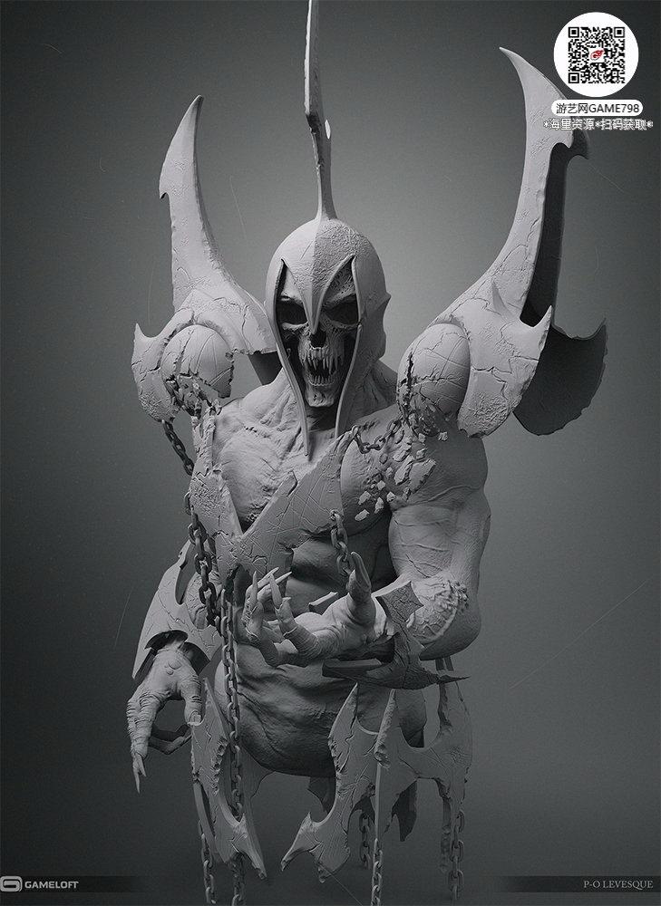 058_关注游艺网公众号获海量资源_3D网游次世代模型大图参考机械怪兽科幻ZBrush4R8雕刻.jpg