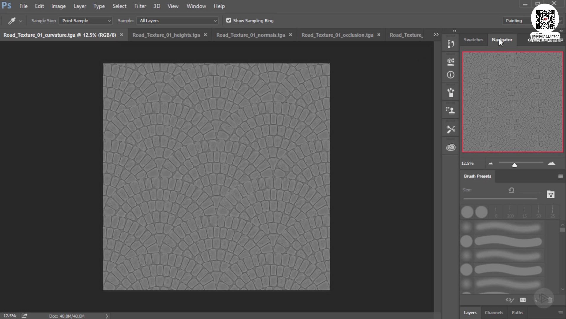 019_关注-游艺网GAME798海量资源下载ZBrush无缝贴图创建教程.jpg