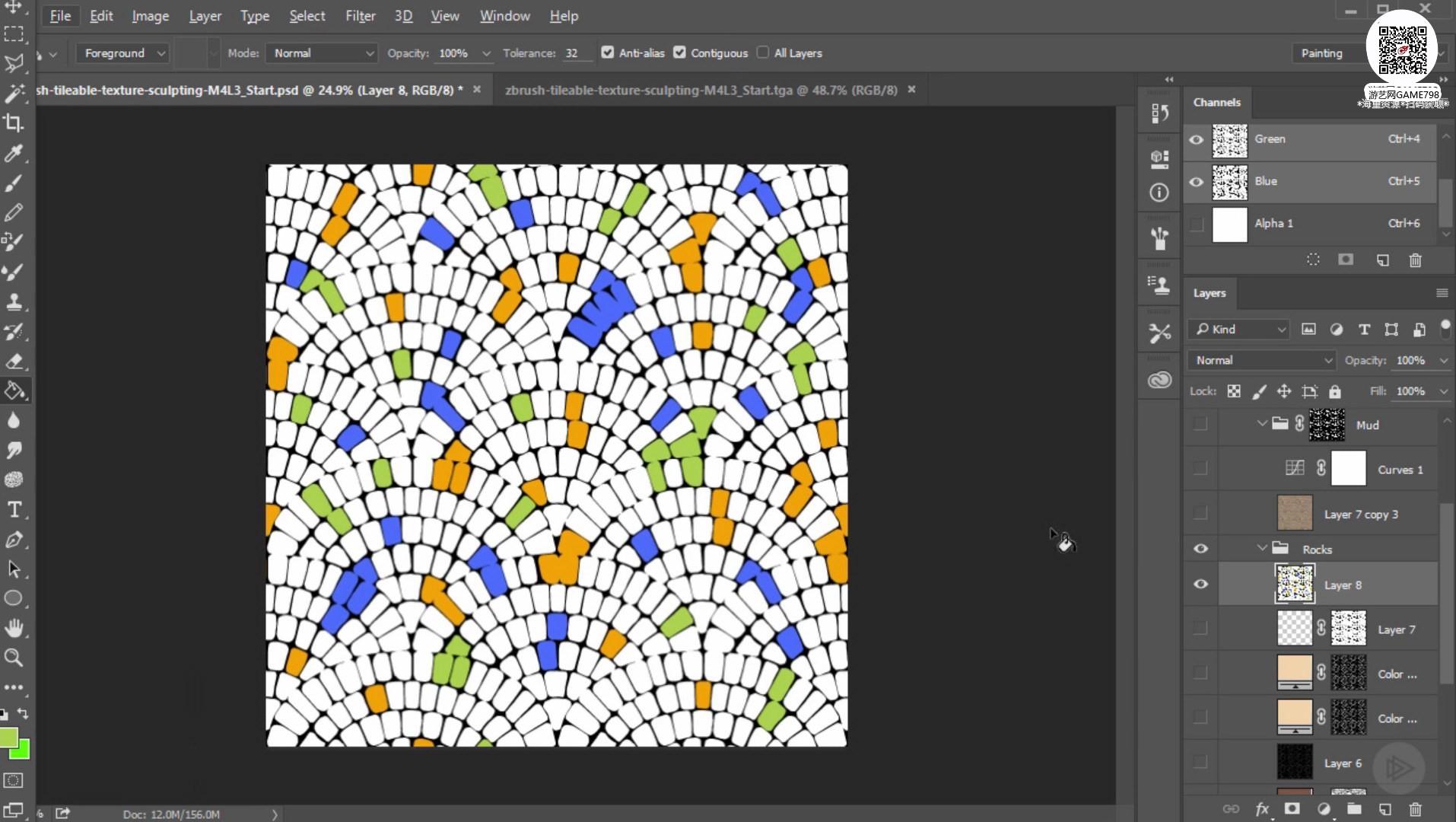 021_关注-游艺网GAME798海量资源下载ZBrush无缝贴图创建教程.jpg