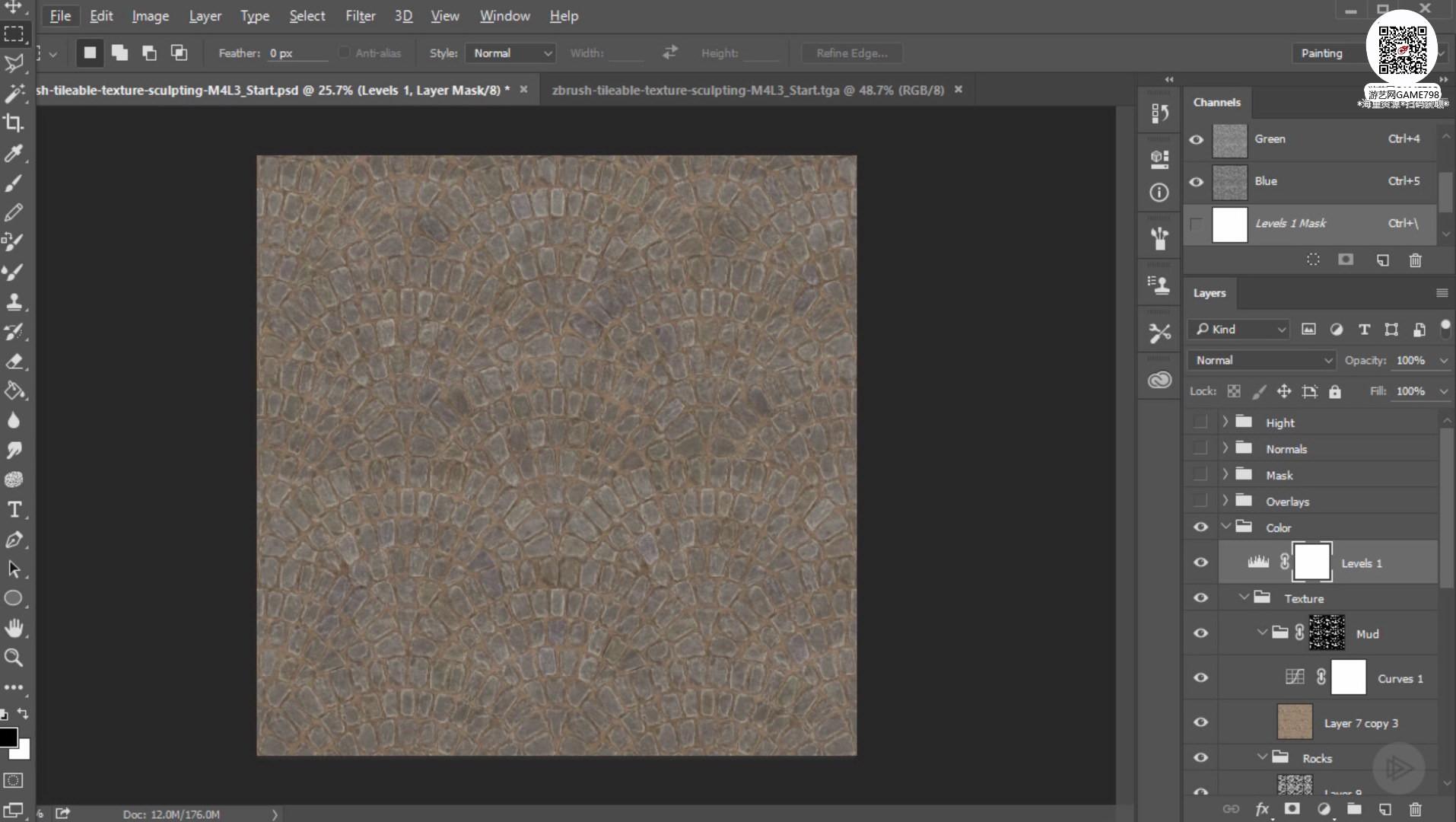 022_关注-游艺网GAME798海量资源下载ZBrush无缝贴图创建教程.jpg
