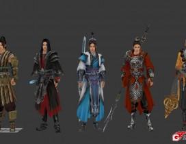 剑侠3男子5人物