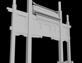 3d模型——牌楼