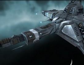 秃鹫级机动战舰EVE遨游太空逼真3D模型
